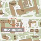 Excerpt of UC Davis campus map showing old and new locations
